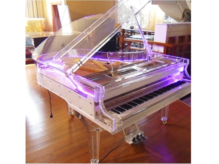 Piano De Cola Transparente 168cm